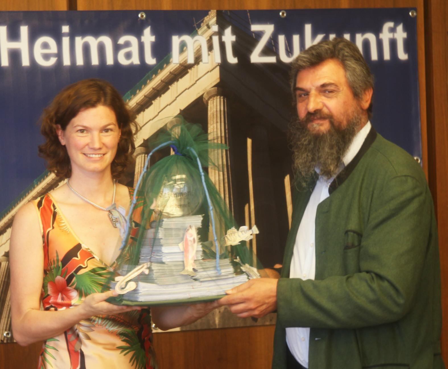 Landrätin Tanja Schweiger, Dr. Josef Paukner